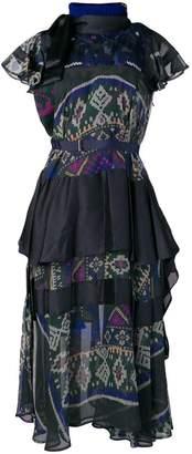 Sacai belted navajo dress