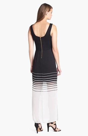 Vince Camuto Chiffon Overlay Tank Maxi Dress (Petite)