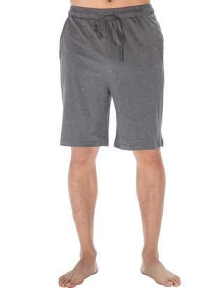 11b3ecb3aea WEWINK CUKOO Men's Sleep Shorts Cotton Pajama Bottoms Knit Lounge Shorts  with Pockets
