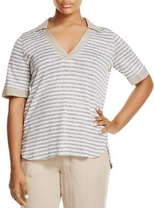 Marina Rinaldi Zambia Collared Stripe Shirt