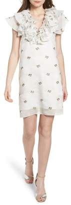 Elliatt Theseus Embroidered Ruffle Dress
