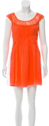 Alberta Ferretti Mini Ruched Dress