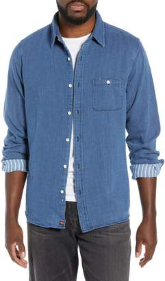The Normal Brand Jonathan Regular Fit Indigo Double Cloth Sport Shirt