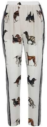 Stella McCartney Printed Silk-Chiffon Straight-Leg Pants