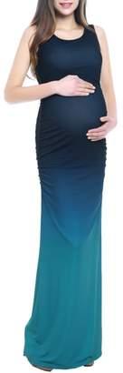 Kimi and Kai Sonia Ombre Maternity Maxi Dress