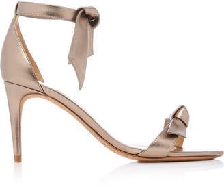 Alexandre Birman Luna Clarita Metallic Leather Sandals