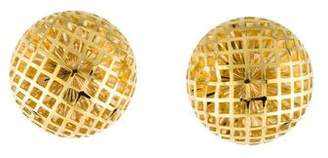 18K Textured Dome Earrings