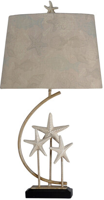 Stylecraft Style Craft 34In Sand Stone Table Lamp