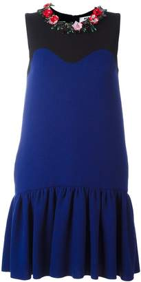 MSGM drop waist embellished dress