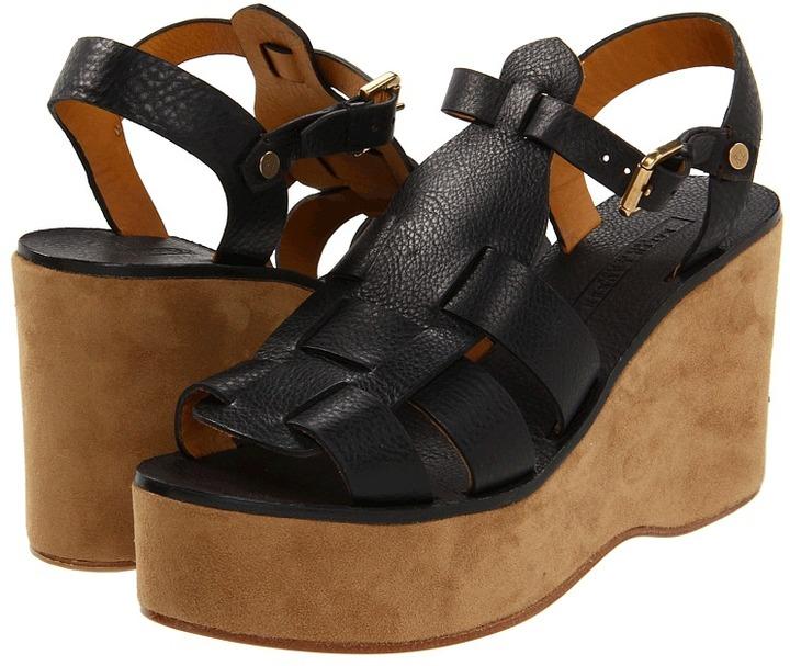Ralph Lauren Chandra (Black) - Footwear