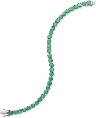 Macy's Emerald Tennis Bracelet (15 ct. t.w.) in Sterling Silver, Created for