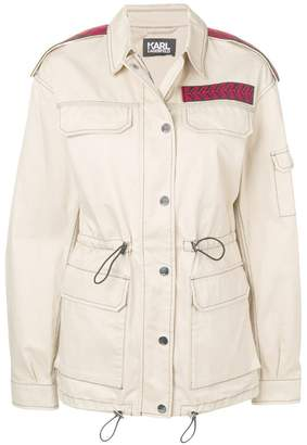 Karl Lagerfeld mid-length safari jacket