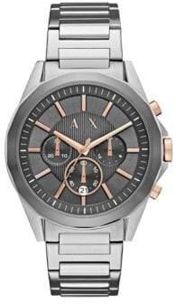 Armani Exchange Drexler Quartz Chrono Two-Tone Bracelet Watch