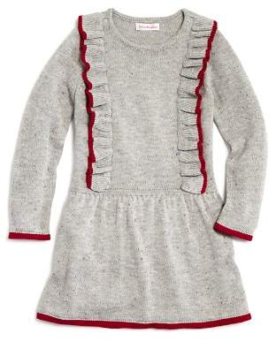 Design History Girls' Ruffled Sweater Dress - Little Kid