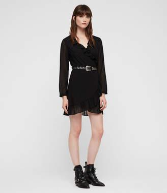AllSaints Kiyah Shimmer Dress