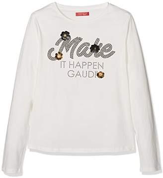 Gaudi' Gaudì Girl's M-C Con Grafica Davanti T-Shirt,140 cm