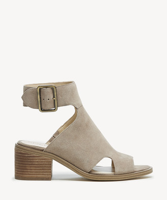 e126705acf Sole Society Women's Tally Block Heels Sandals Taupe Size 5 Suede From