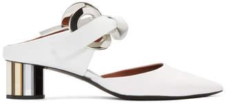 Proenza Schouler White Grommet Ring Mirror Pumps