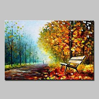 Paintings RTs TFs Hand-Painted Knife Landscape Oil Painting On Canvas Modern Abstract Wall Art Picture For Home Decoration Ready To Hang