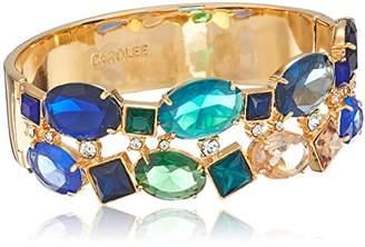 Carolee Pacific Gala Multi Stone Hinge Bangle Bracelet