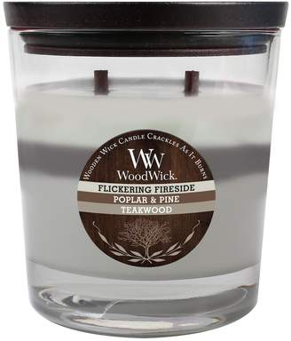 Woodwick WoodWick 17.2-oz. Flickering Fireside, Poplar & Pine & Teakwood Soy Jar Candle