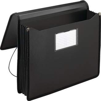 Smead Poly Premium Wallet, 5-1/4 Expansion, Letter Size, Black (71500)