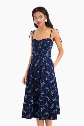 Rebecca Taylor Sleeveless Francine Poplin Dress