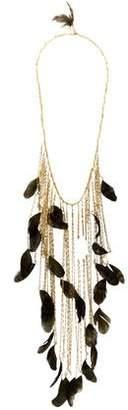 Rosantica Feather & Quartz Selva Long Necklace