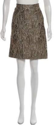 Lida Baday Brocade Knee-Length Skirt