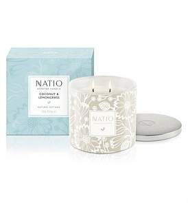Natio Coconut & Lemongrass Scented Candle