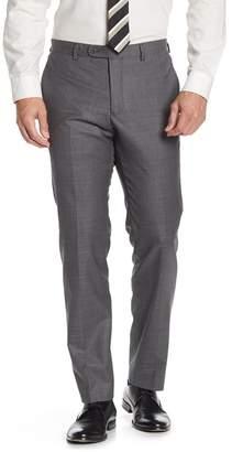"John Varvatos Bedford Charcoal Sharkskin Suit Separates Trouser - 30-34\"" Inseam"