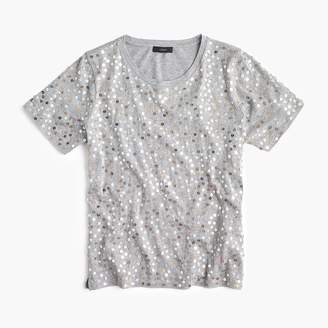 J.Crew Metallic sequin T-shirt