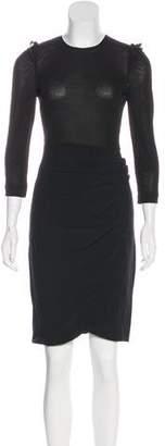 Miu Miu Long Sleeve Knee-Length Dress
