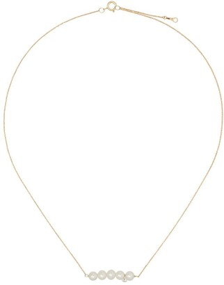 Persée 18kt yellow gold pearl necklace