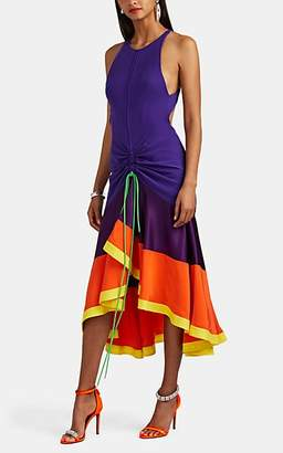 Prabal Gurung WOMEN'S JHANTA COLORBLOCKED SILK FLARED DRESS