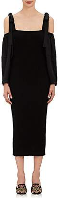 Alberta Ferretti Women's Virgin Wool & Silk Column Dress