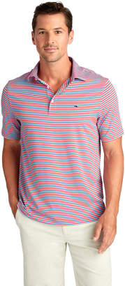 Vineyard Vines Three-Color Trad-Stripe Sankaty Performance Polo