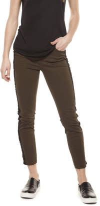 Dex Olive Black Fringe Jeans