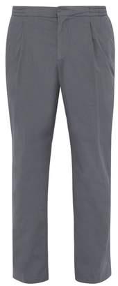 Officine Generale Drew Cotton Poplin Trousers - Mens - Dark Grey