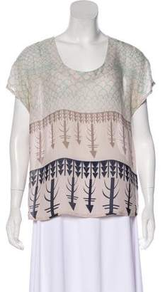 Vena Cava Silk Printed Top