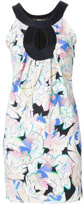 Roberto Cavalli leaf print sleeveless dress