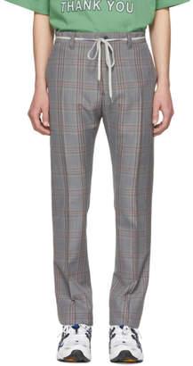 Lanvin Grey Check Mohair Drawstring Trousers