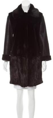 Sylvie Schimmel Muskrat Shearling Coat