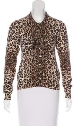 Dolce & Gabbana Leopard Print Cashmere Cardigan