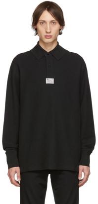 Raf Simons Black Hanging Collar Long Sleeve Polo