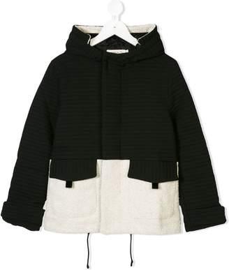 Andorine faux shearling hooded coat