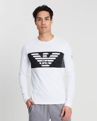 Emporio Armani Branded Long Sleeve T-Shirt