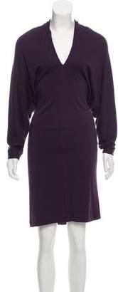 Lanvin Wool Long Sleeve Dress