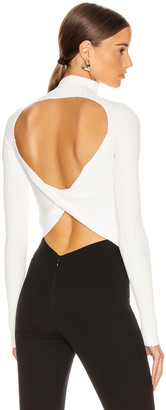 Dion Lee Twist Back Long Sleeve Sweater in Ivory | FWRD