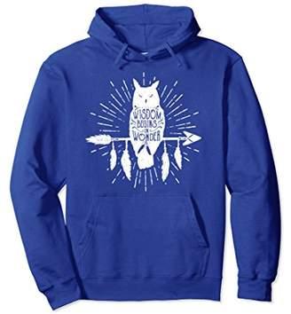 Wisdom Begins in Wonder Native American Owl Hoodie